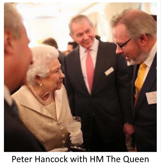 Peter Hancock with HM The Queen