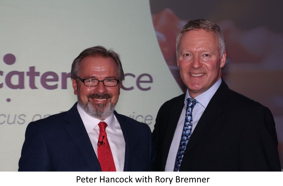 Peter with Rory Bremner