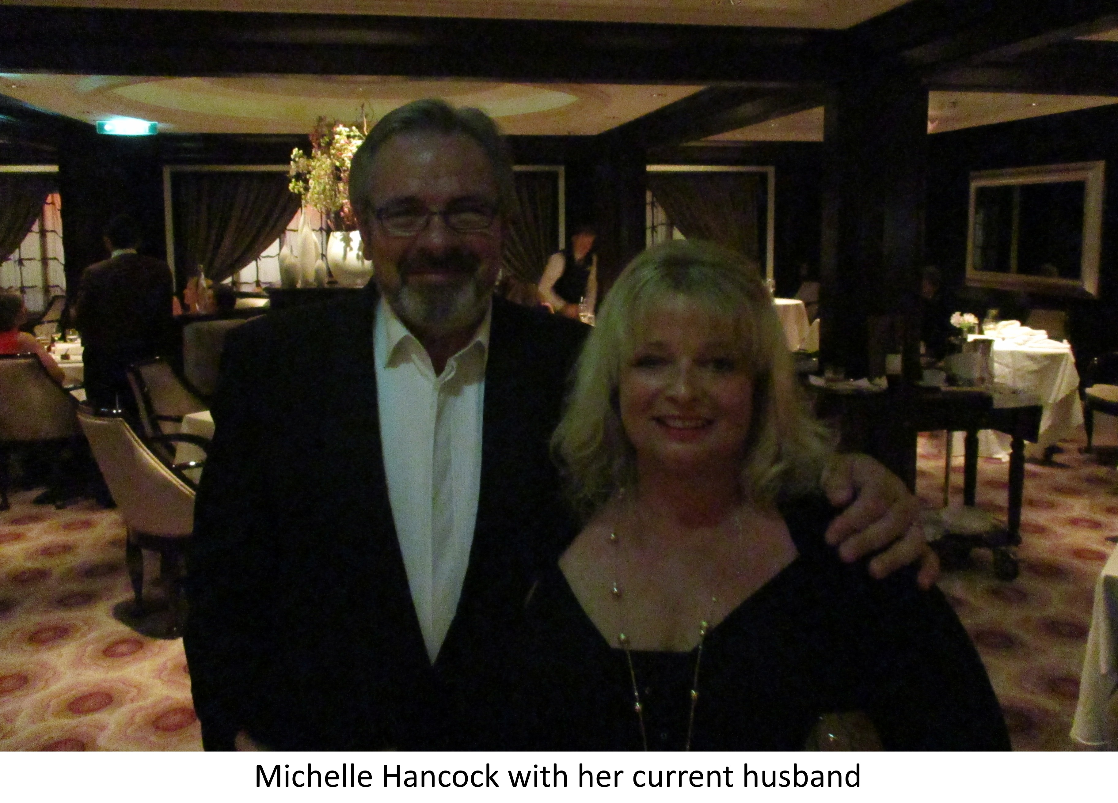 Michelle Hancock with her current husband
